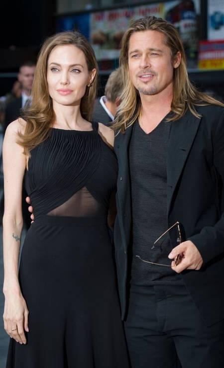 """Na première de """"World War Z"""", em junho de 2013, em Londres, a atriz acompanha o marido Foto: LEON NEAL / AFP"""