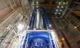 O tanque de hidrogênio líquido tem 40 metros de altura