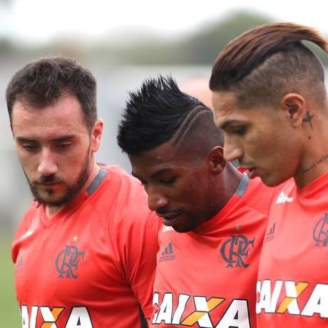 Mancuello, Rodinei e Guerrero podem começar jogando contra o Palestino Foto: Gilvan de Souza / Flamengo