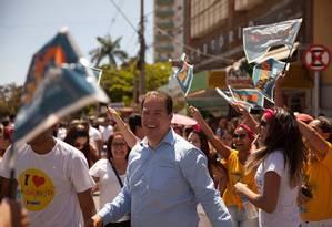 O prefeito de Montes Claros, Ruy Castro, durante atividade de campanha Foto: Reprodução/Facebook