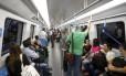 Nesta segunda-feira, mais de 60 passageiros utilizaram a linha 4