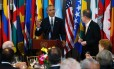 O presidente Barack Obama propõe brinde durante almoço em homenagem ao secretário-geral da ONU Ban Ki-moon