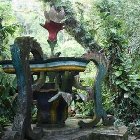 O Las Pozas, no México, um jardim subtropical preenchido com esculturas surrealistas Foto: AP