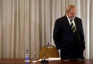 O ex-presidente Lula é réu no processo do tríplex do Guarujá Foto: Paulo Whitaker / Reuters 28-03-2016