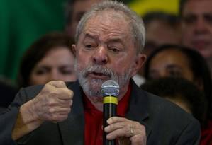 Ex-presidente durante pronunciamento sobre denúncias do MPF na semana passada Foto: Pedro Kirilos / Agência O Globo
