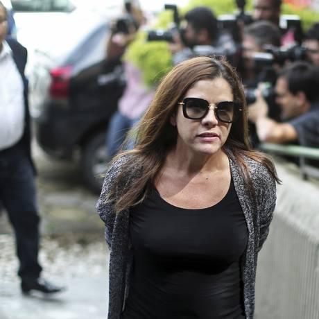 Mulher de João Santana durante a prisão em fevereiro passado Foto: AFP/23-02-2016
