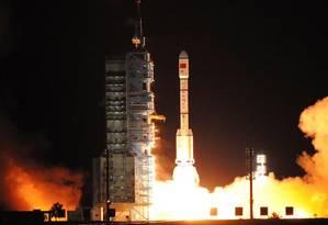 O laboratório espacial Tiangong-2 foi lançado no último dia 15 Foto: REUTERS