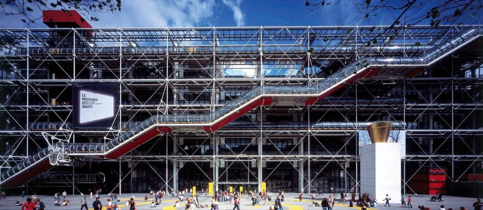 Fachada do Centre George Pompidou, em Paris, projetado entre 1971-1977 Foto: Katsuhisa Kida