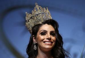 A brasileira Rafaela Manfrini foi a vencedora da quinta edição do Miss International Trans Star, maior concurso de beleza transgênero da Europa Foto: Manu Fernandez / AP