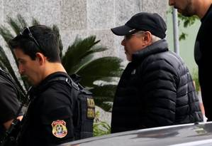 O ex-ministro Guido Mantega chega à sede da Polícia Federal, em São Paulo Foto: Nacho Doce / REUTERS