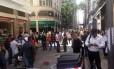 Prédios do Centro tiveram que ser evacuados pela Defesa Civil