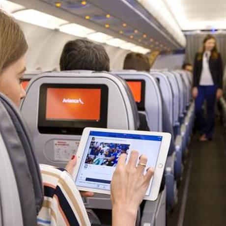 Avianca já oferece wi-fi a bordo Foto: Divulgação/Avianca