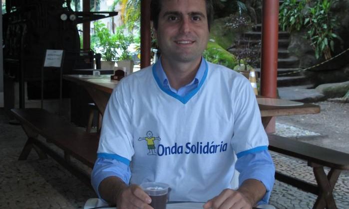 """Ricardo Calçado: """"Só sorria ao receber ligações sobre projetos sociais"""" Foto: Mauro Ventura / O GLOBO"""