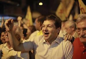 O prefeito de Recife, Geraldo Júlio (PSB), durante atividade de campanha Foto: Reprodução/Facebook