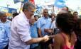 O candidato à prefeitura de Belo Horizonte João Leite (PSDB) durante evento de campanha