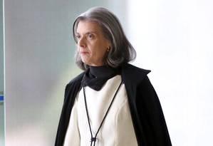 A presidente do Supremo Tribunal Federal, ministra Carmem Lúcia, durante sessão no STF Foto: Ailton de Freitas / Agência O Globo / Arquivo / 21/09/2016