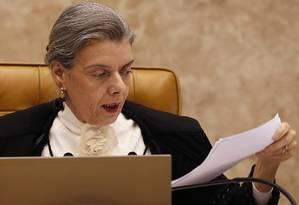 A ministra Carmén Lúcia, presidente do Supremo Tribunal Federal Foto: Jorge William / 22-09-16 / Agência O Globo
