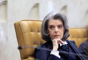 A presidente do STF, ministra Cármen Lúcia Foto: Divulgação