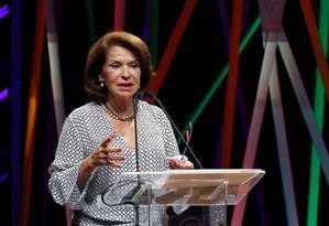 Palestra de Maria Helena Guimarães abriu o encontro rebatendo críticas e esclarecendo dúvidas sobre as reformas propostas pelo governo na educação Foto: Luiz Ackerman