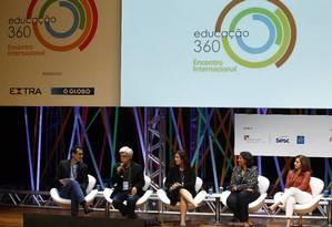 José Pacheco participa de debate no Educação 360 Foto: Luiz Ackermann / Agncia O Globo
