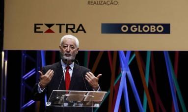 António Nóvoa durante sua palestra no Educação 360 Foto: Luiz Ackermann / Agência O Globo