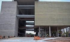 Museu do Trabalhador. Obra inciada em 2012 ainda não foi concluída: opositores ao PT querem mudar o projeto para não enaltecer o ex-presidente Lula Foto: Pedro Kirilos