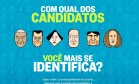 Teste no site do Globo ajuda eleitores a conhecer os candidatos à prefeitura do Rio Foto: Reprodução