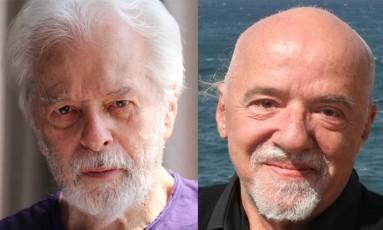 Alejandro Jodorowsky e Paulo Coelho: parecidos? Foto: Arte O Globo