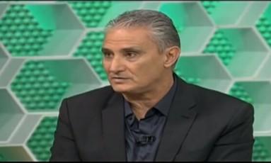 Tite deu entrevista ao Esporte Espetacular Foto: Reprodução / Internet