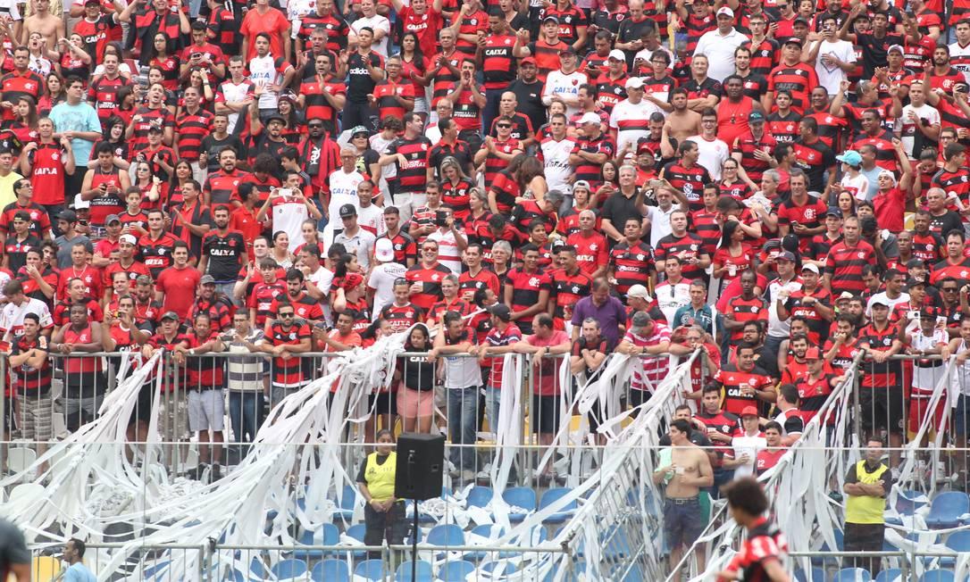 Torcida do Flamengo em caricica Gilvan de Souza / Flamengo / Divulgação
