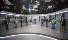 Candidatos à prefeitura do Rio participam de debate na Rede Record Foto: Antonio Scorza / Agência O Globo