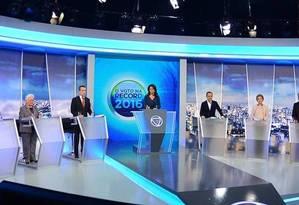 Candidatos à prefeitura de São Paulo participam de debate na TV Foto: Divulgação