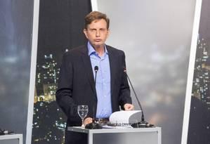 Marcelo Crivella no debate dos candidatos a prefeito na Record Foto: ANTONIO SCORZA / Agência O Globo