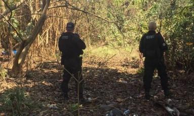Traficante foi encontrado e morto numa área de mata no complexo do Salgueiro Foto: Divulgação