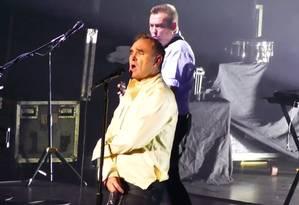 Morrissey em show no Brooklyn Foto: Reprodução