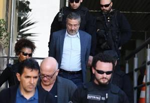 Ex-ministro Antonio Palocci foi preso nesta manhã em São Paulo Foto: Geraldo Bubniak / Agência O Globo