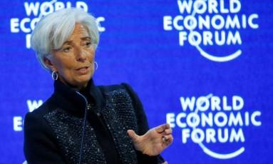 Christine Lagarde, diretora do Fundo Monetário Internacional (FMI), esteve em Cartagena para anunciar uma linha de crédito para a Colômbia Foto: Ruben Sprich / REUTERS
