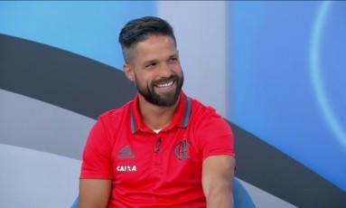 Diego admitiu que ficou decepcionado após substituição no jogo contra o Palmeiras Foto: Reprodução