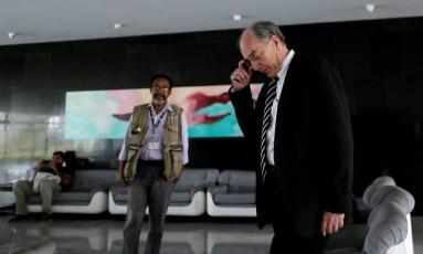 Pedro Parente antes de entrevista à imprensa, em Brasília Foto: UESLEI MARCELINO / REUTERS