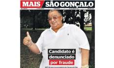 A capa do caderno 'Mais São Gonçalo' com a denúncia Foto: Reprodução