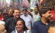 O candidato do PMDB à prefeitura do Rio, Pedro Paulo, ao lado do prefeito Eduardo Paes Foto: Fernanda Krakovics