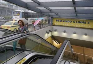 A estação Jardim Oceânico, na Barra da Tijuca: construção da Linha 4 do metrô é uma das obras que envolveram pagamento de propina Foto: Arquivo / 20/09/2016 / Domingos Peixoto / Agência O Globo