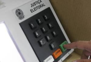 Urna eletrônica Foto: Felipe Hanower / Agência O Globo