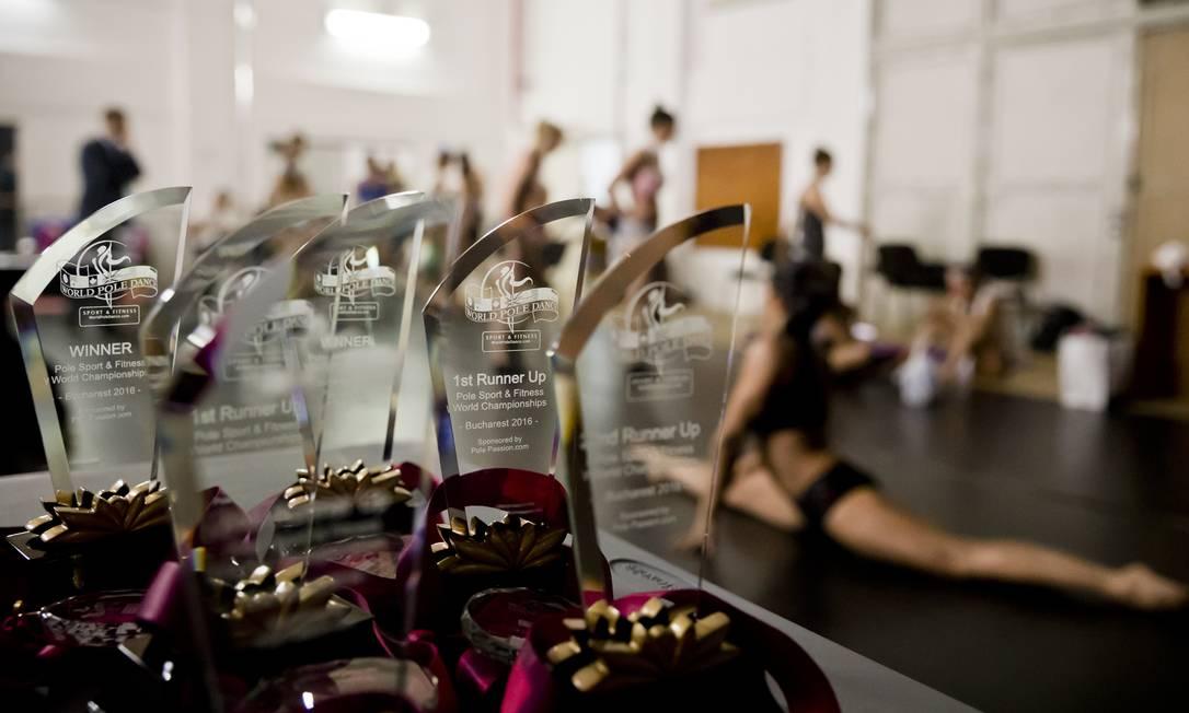 Troféus, que serão distribuidos durante o concurso Vadim Ghrida / AP