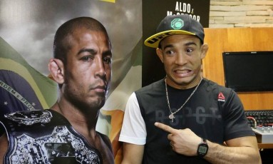 Brasileiro José Aldo queria uma revanche contra McGregor Foto: Reprodução