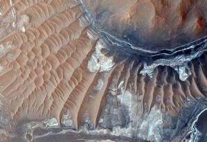 Fotografia da superfície de Marte tirada por sonda da NASA Foto: NASA