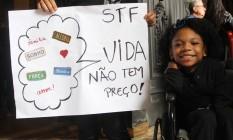 Protesto no centro do Rio no último domingo Foto: Divulgação