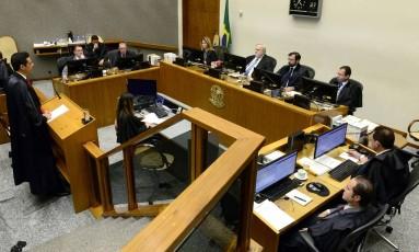 A sessão do STJ em que os ministros analisaram o recurso contra decisão do TJ Foto: Divulgação/STJ/Jose Alberto