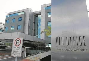 Prédio que abrigará escritório do Ministério Público em Brasília: duas salas e 14 vagas de garagem Foto: Givaldo Barbosa