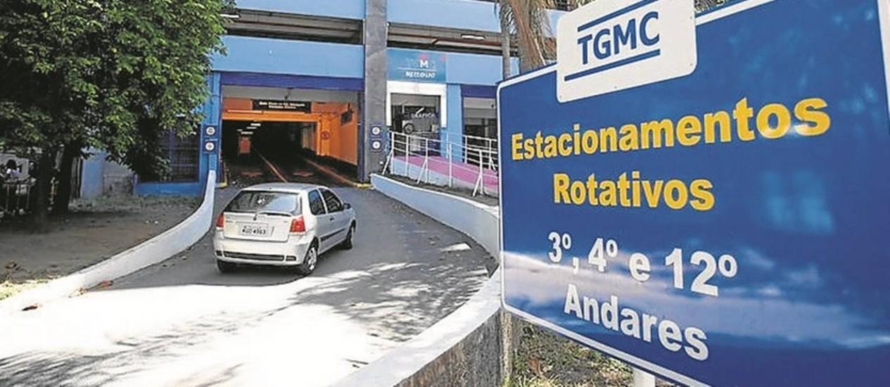 Entrada do terminal usado pelo MP no Centro: 170 vagas alugadas Foto: Pablo Jacob